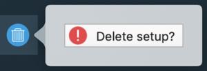 Delete setup 1