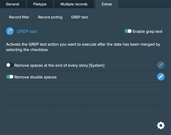 Grep text actions 1