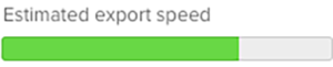 Export speed indicator 1